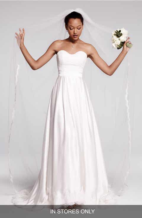 Olia Zavozina Ebie Lace Silk Charmeuse Dress