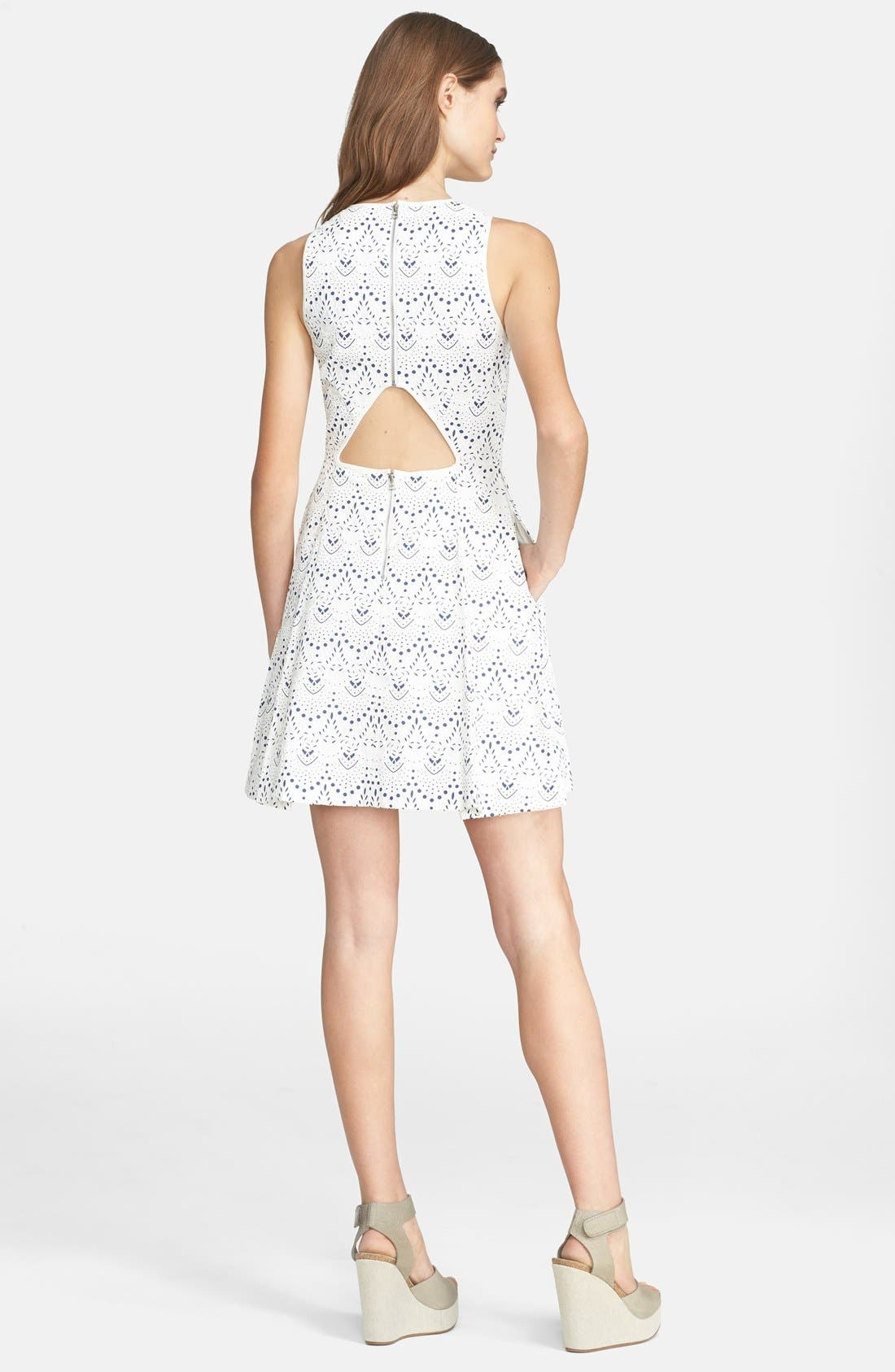 Alternate Image 2  - Mcginn 'Kara' Lace Fit & Flare Dress