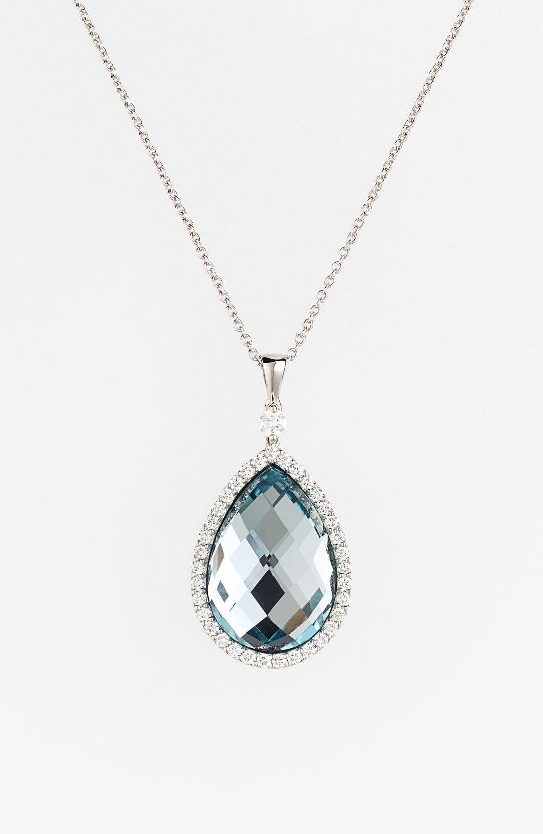 Alternate Image 1 Selected - Roberto Coin Diamond Teardrop Pendant Necklace