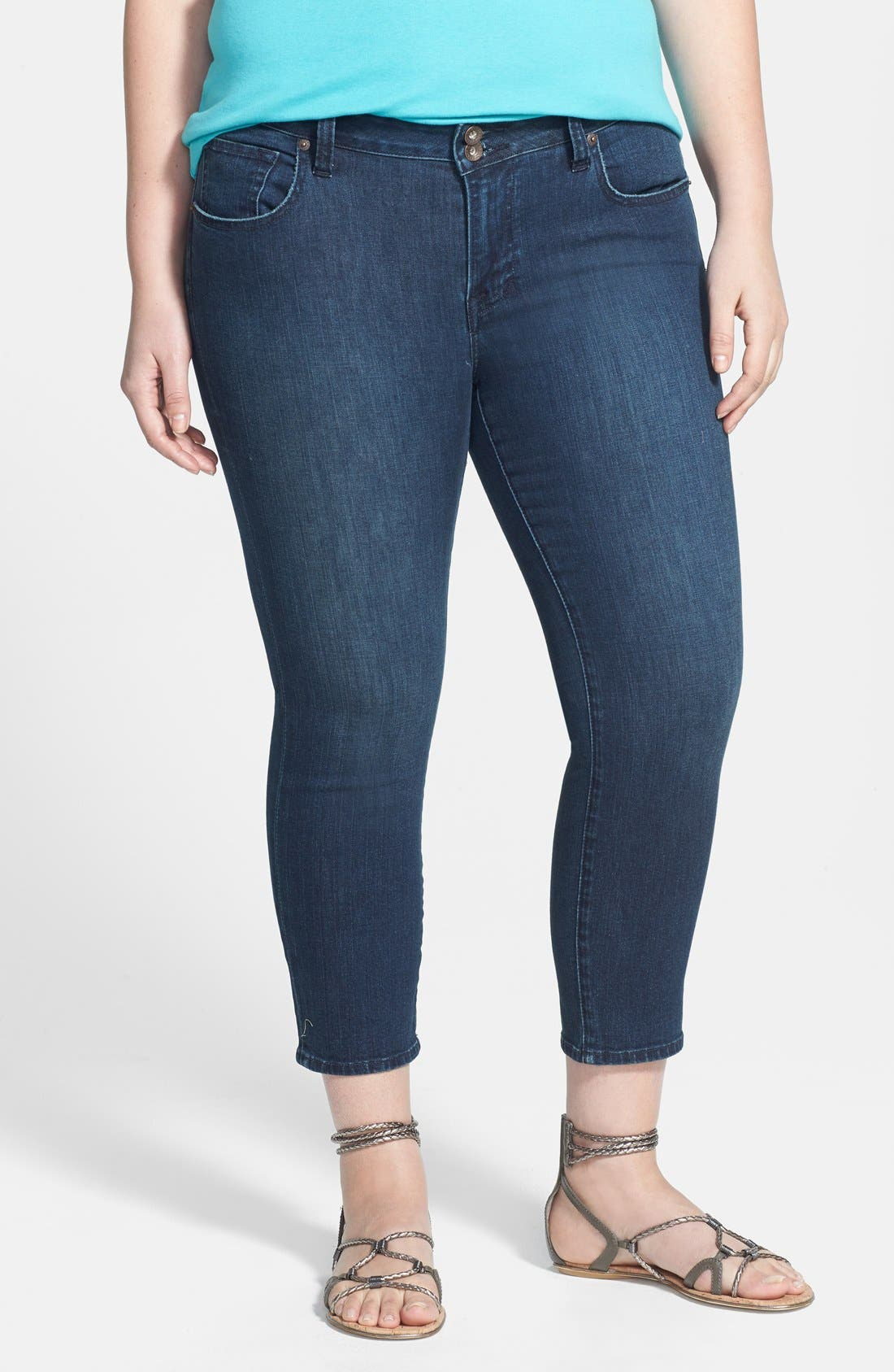 Alternate Image 1 Selected - Lucky Brand 'New Ginger' Capris (Plus Size)