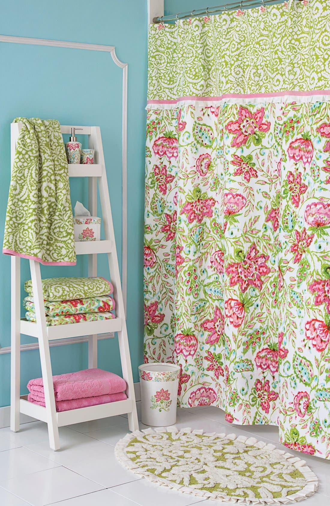 'Ikat' Jacquard Bath Towel,                             Alternate thumbnail 2, color,                             Mlt