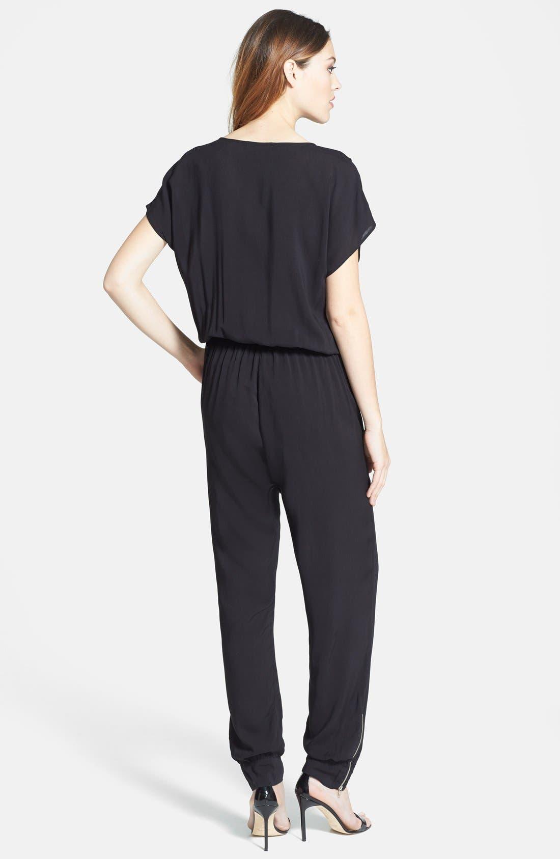 Alternate Image 2  - Olivia Moon Wrap Top Jumpsuit (Regular & Petite)