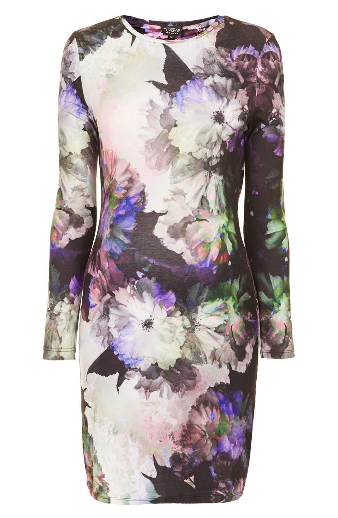 Alternate Image 3  - Topshop 'Digifloral' Print Body-Con Maternity Dress