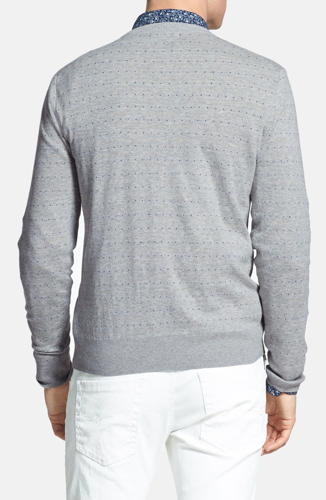 Alternate Image 2  - Fred Perry 'Dot' Crewneck Sweater