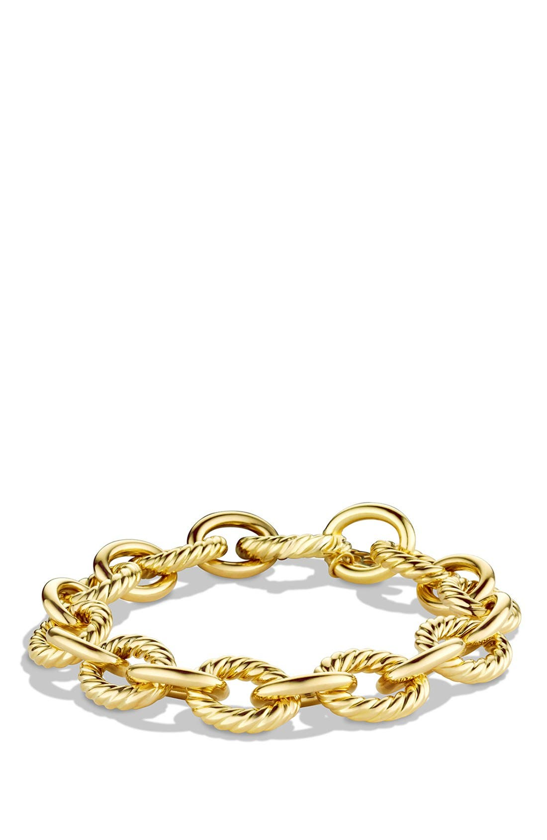 Alternate Image 1 Selected - David Yurman 'Oval' Large Link Bracelet in Gold
