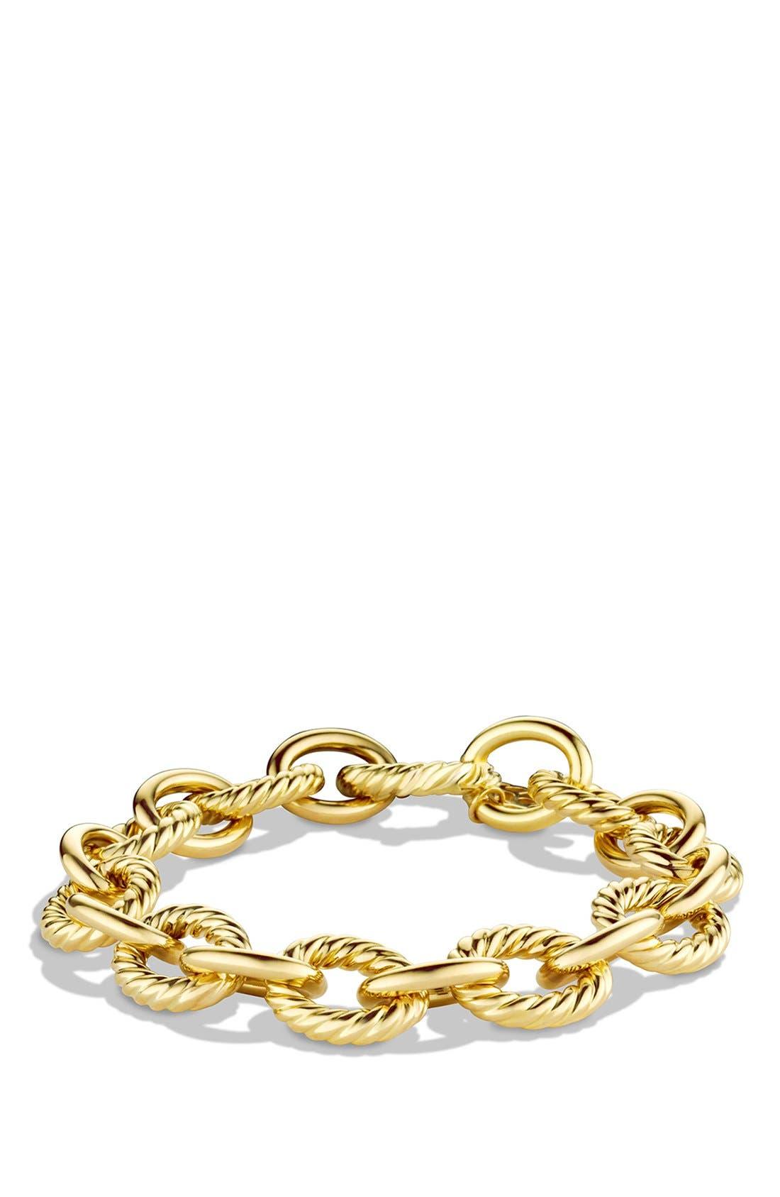 Main Image - David Yurman 'Oval' Large Link Bracelet in Gold