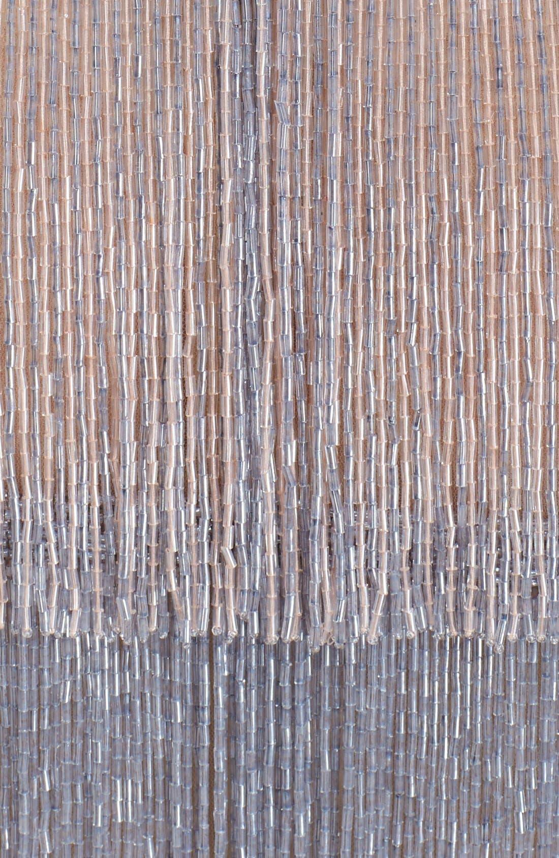Alternate Image 3  - Naeem Khan Glass Beaded Tiered Fringe Dress