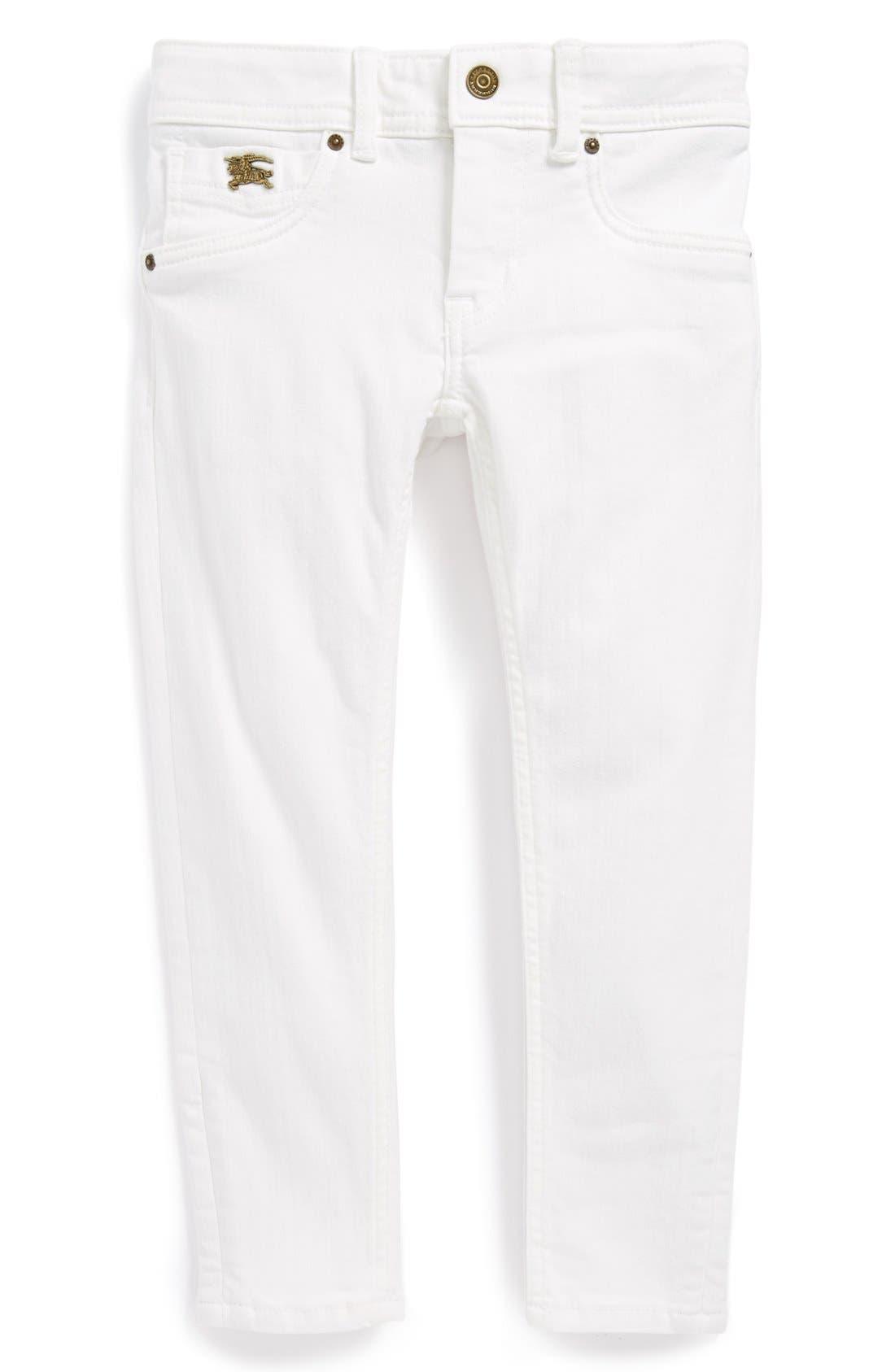 Alternate Image 2  - Burberry 'Piccadilly' Skinny Jeans (Toddler Girls, Little Girls & Big Girls)
