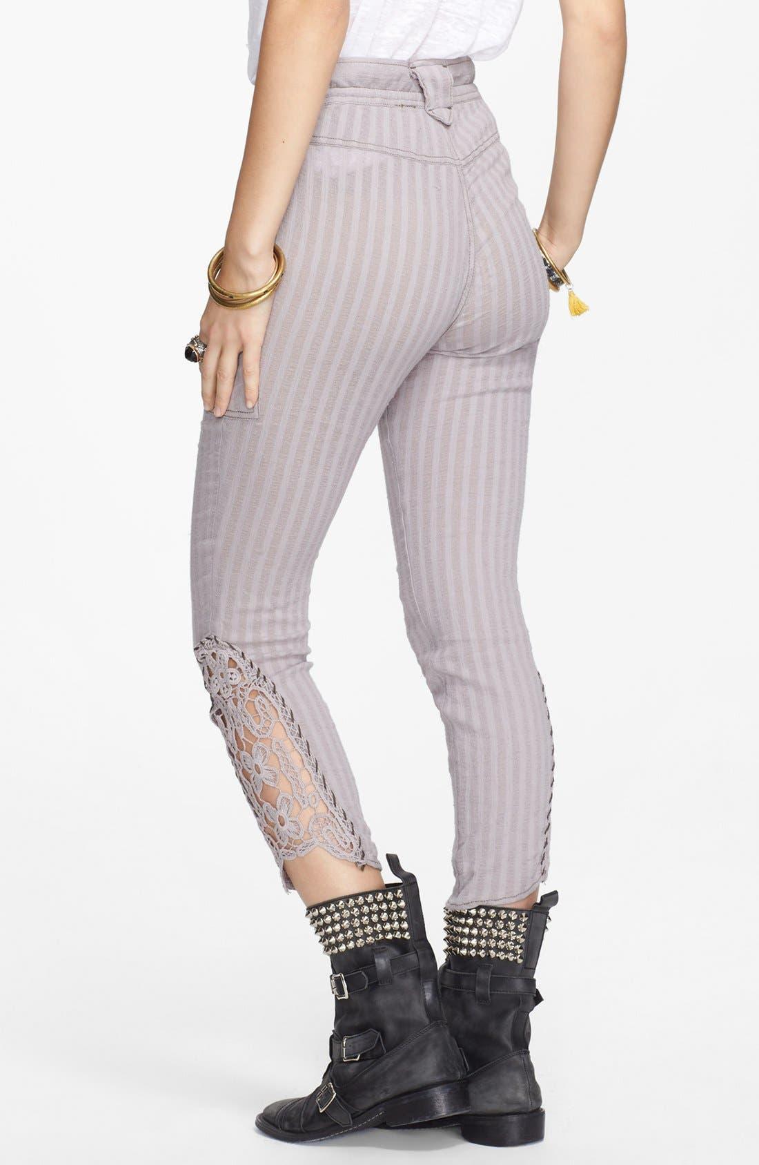 Alternate Image 2  - Free People Crochet Inset Crop Pants