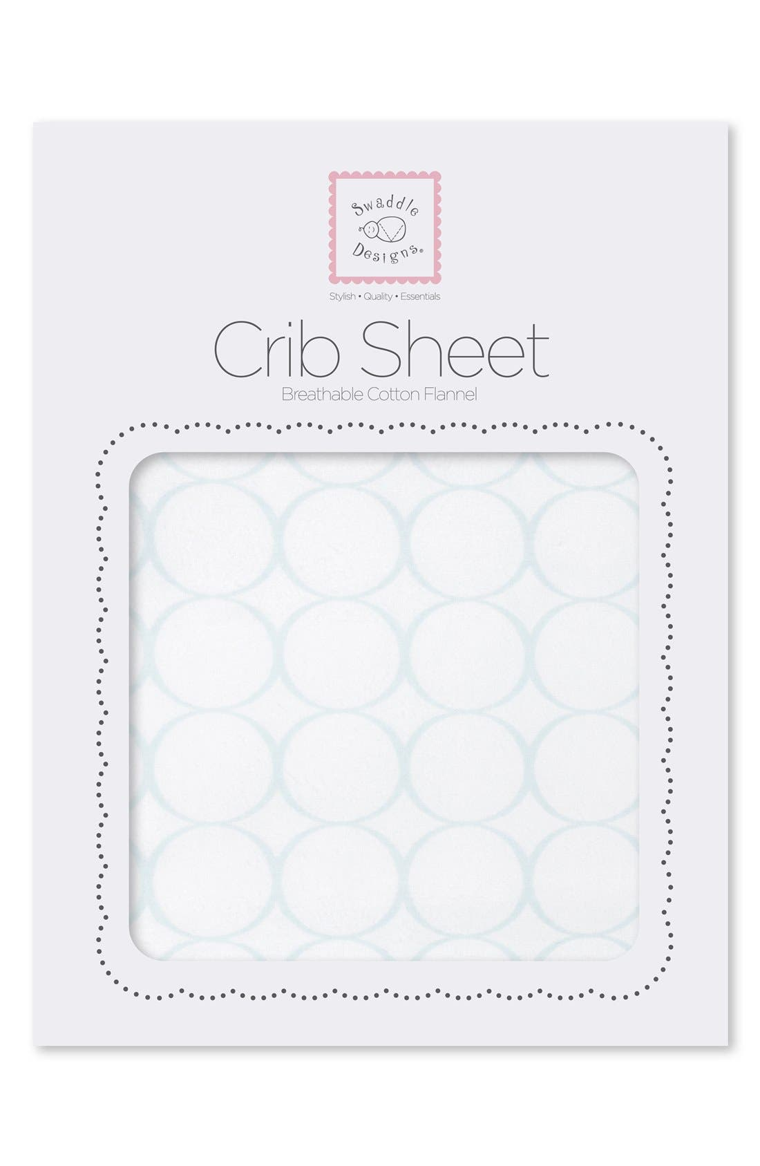 Alternate Image 2  - Swaddle Designs Fitted Flannel Crib Sheet