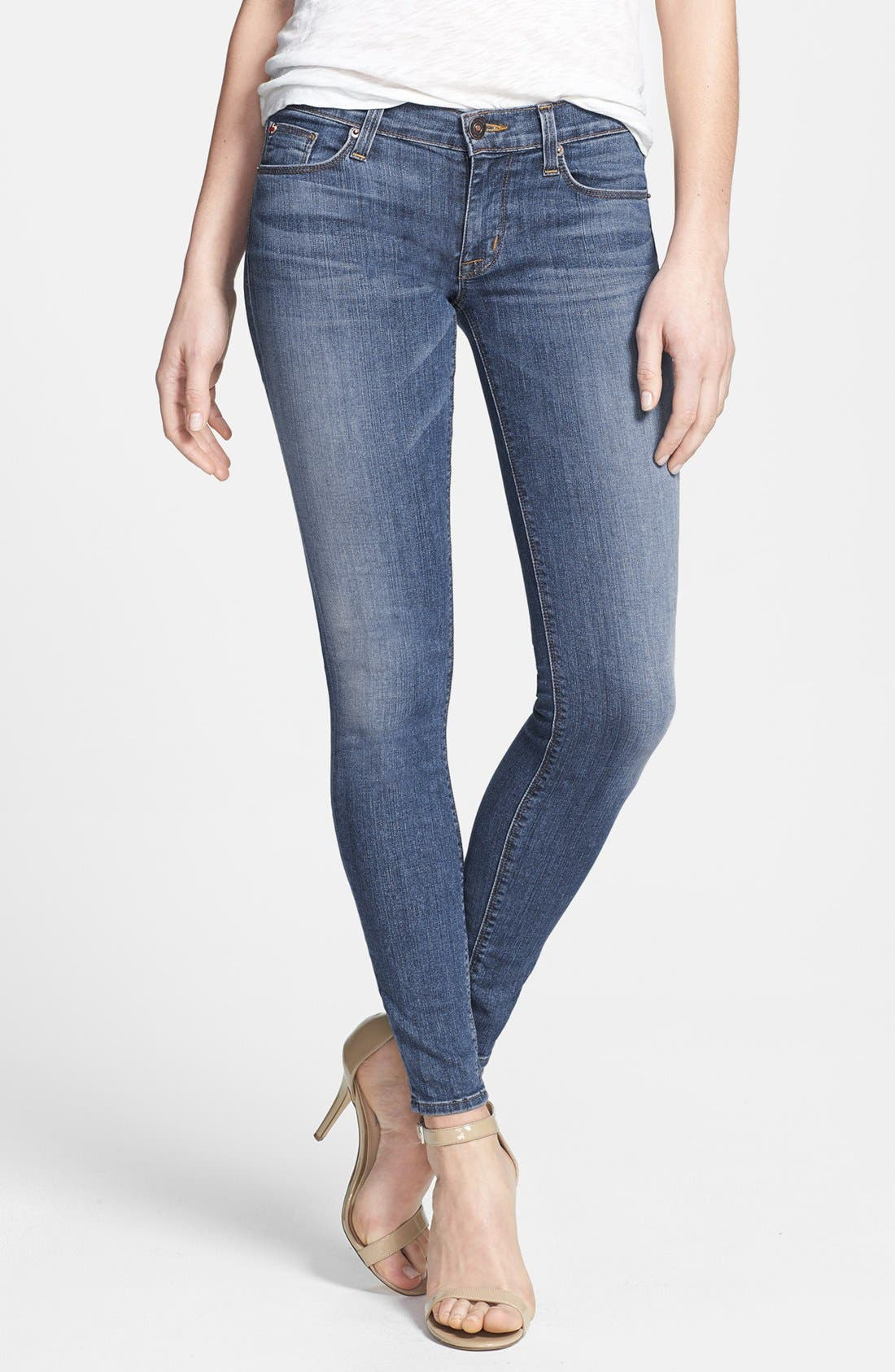 Alternate Image 1 Selected - Hudson Jeans 'Krista' Super Skinny Jeans (Floyd 2)