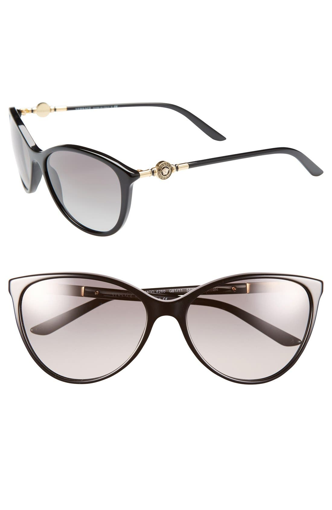 Alternate Image 1 Selected - Versace 'Glam' 57mm Medallion Temple Sunglasses