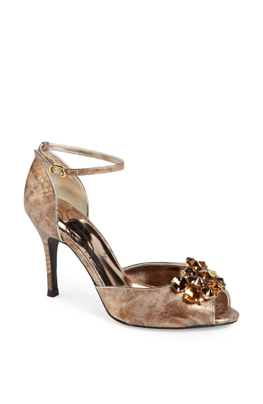 Main Image - J. Reneé 'Deneen' Embellished Ankle Strap Sandal