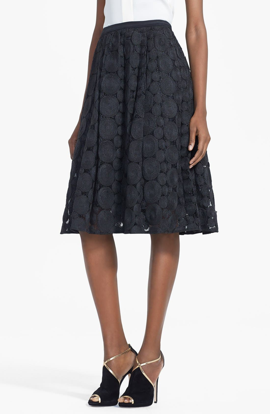 Alternate Image 1 Selected - Tracy Reese Raffia Circle Lace Skirt