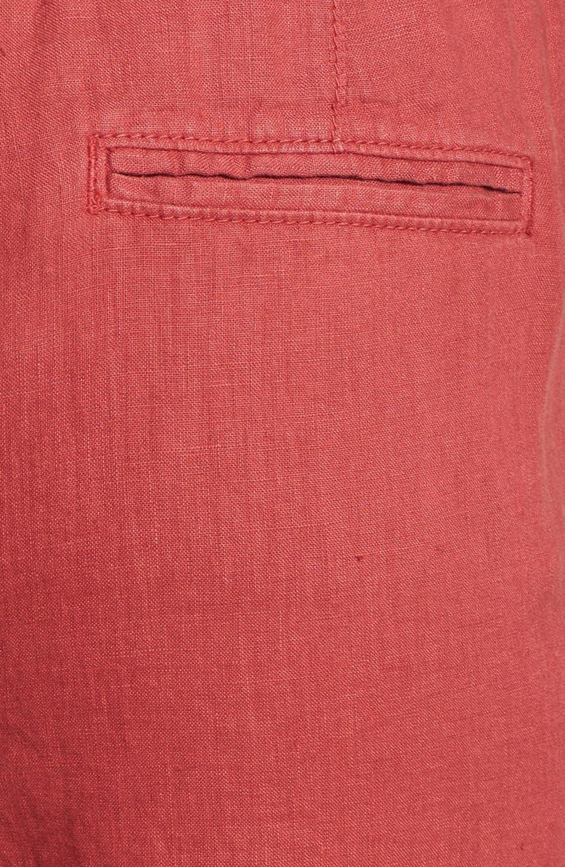 Alternate Image 3  - Caslon® Drawstring Waist Linen Pants (Regular & Petite)