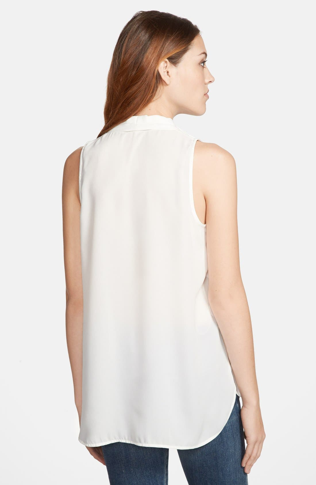 Alternate Image 2  - Vince Camuto Sleeveless V-Neck Blouse (Regular & Petite)
