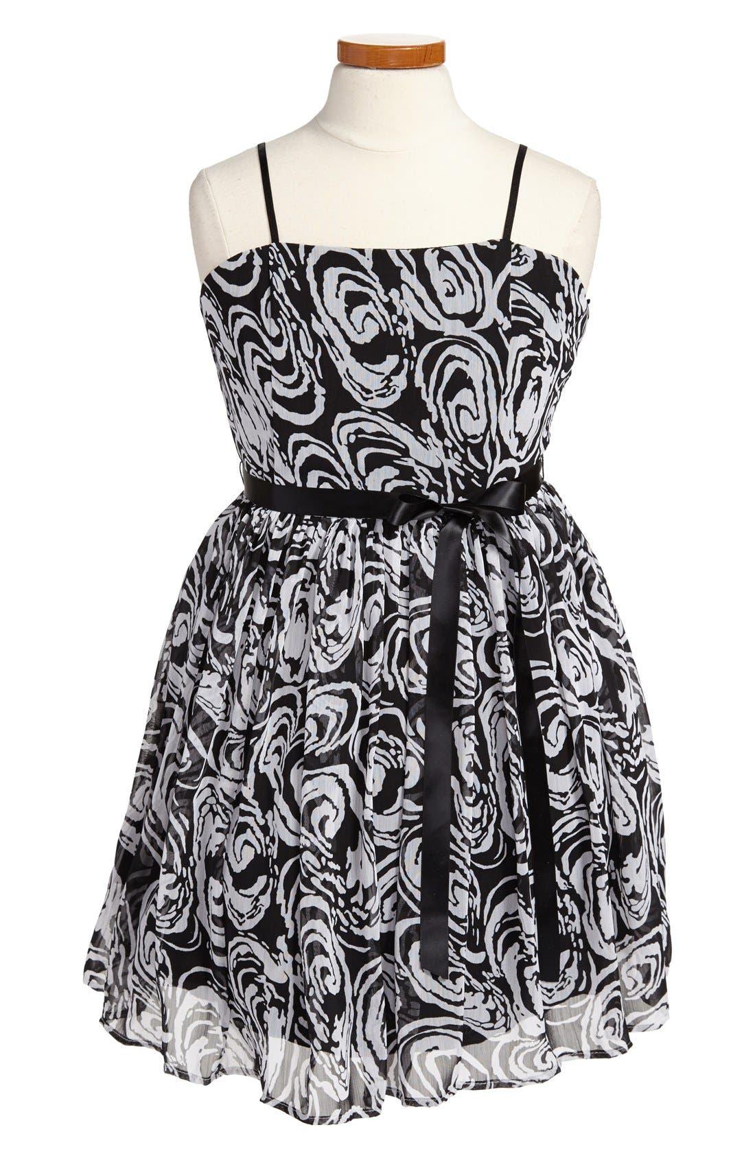 Alternate Image 1 Selected - Un Deux Trois Party Dress (Big Girls)