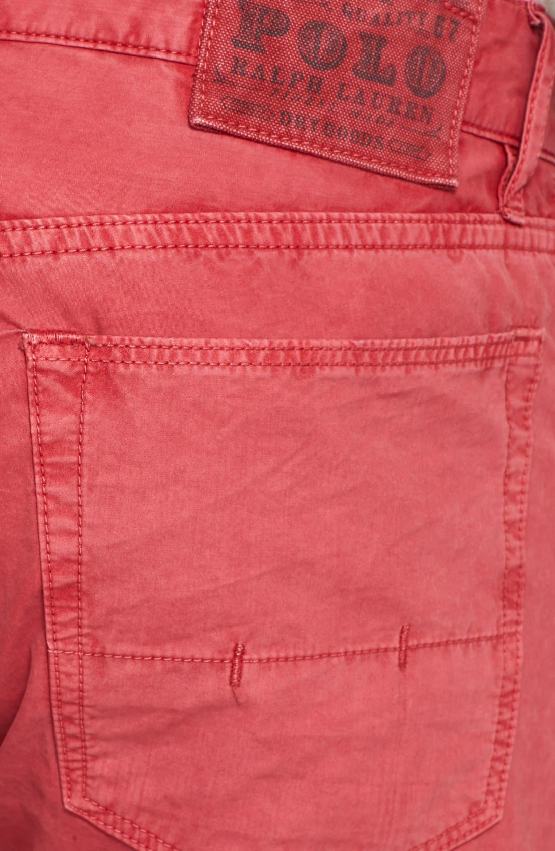 Alternate Image 3  - Polo Ralph Lauren Slim Fit Poplin Pants (Nantucket Red)