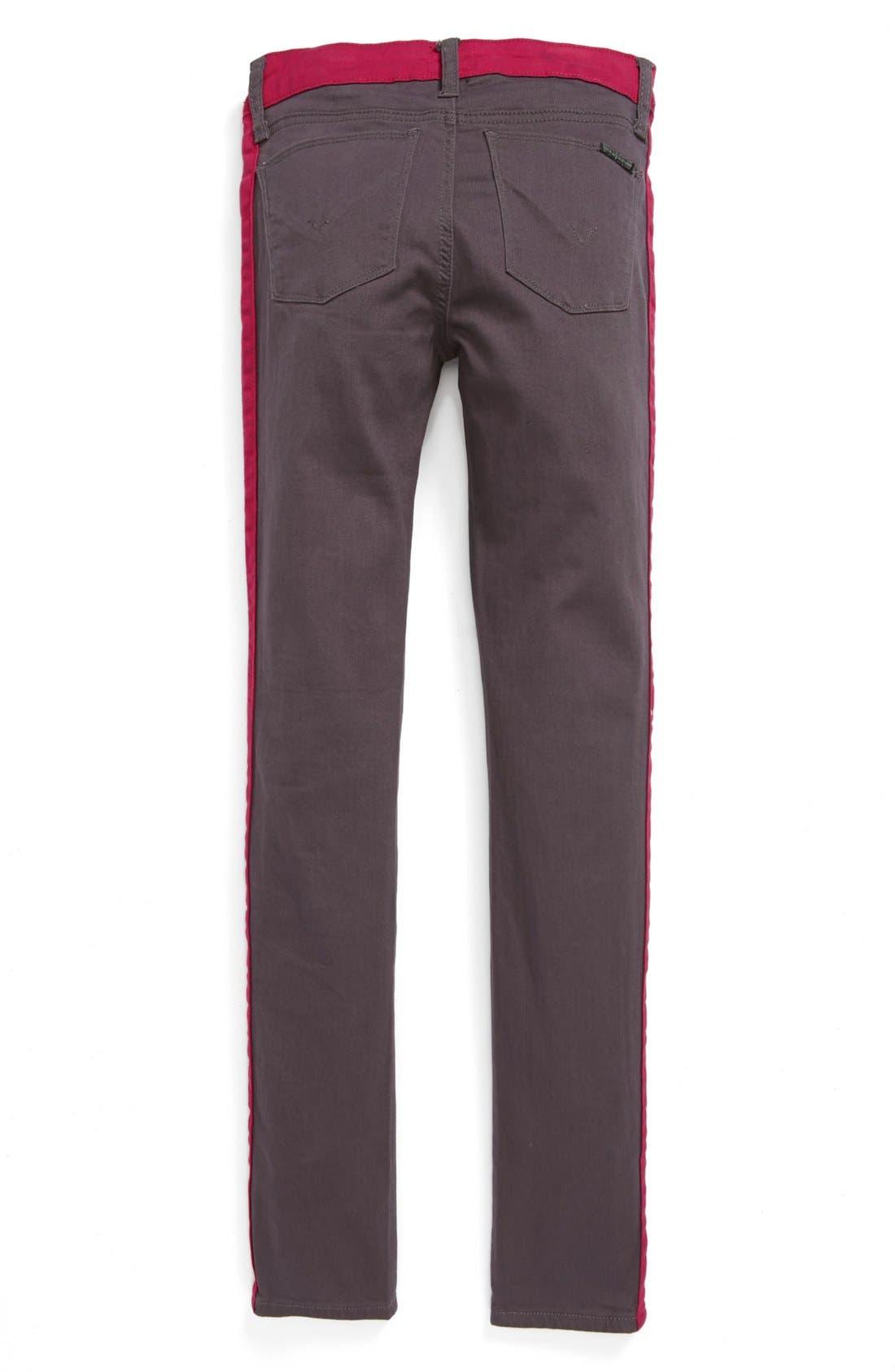 Alternate Image 1 Selected - Hudson Kids 'Cabbage Floral Leeloo' Skinny Jeans (Big Girls)