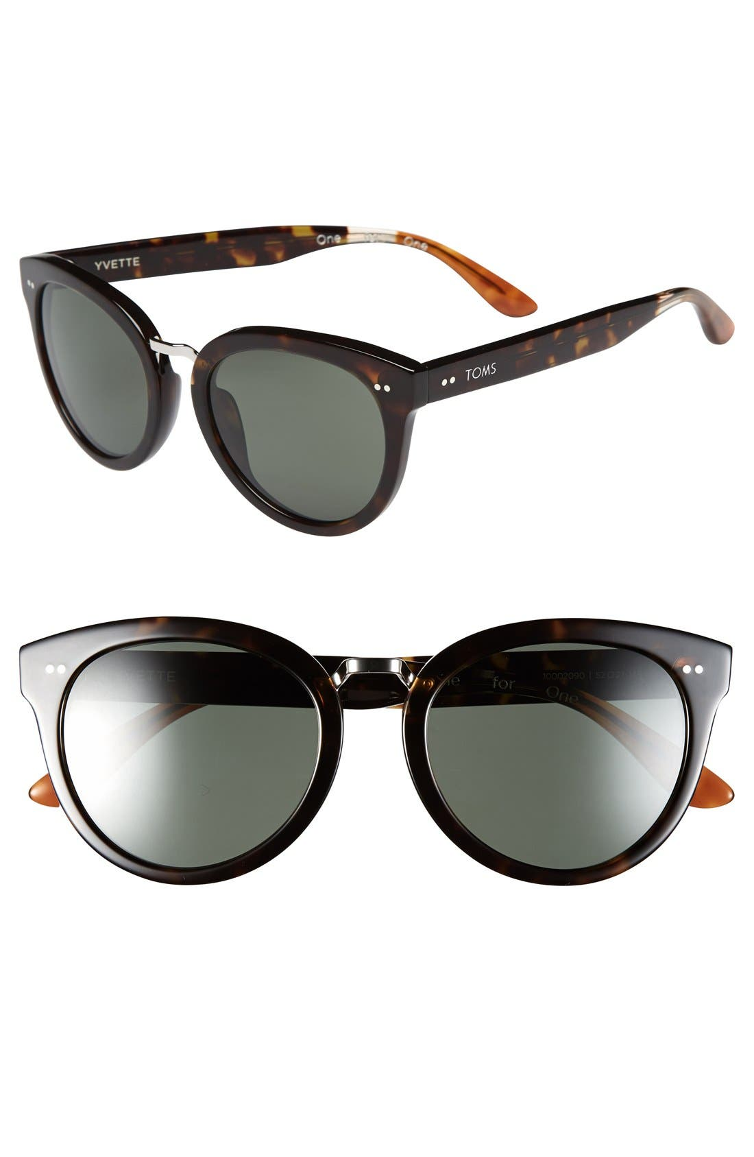 Main Image - TOMS 'Yvette' 52mm Polarized Sunglasses