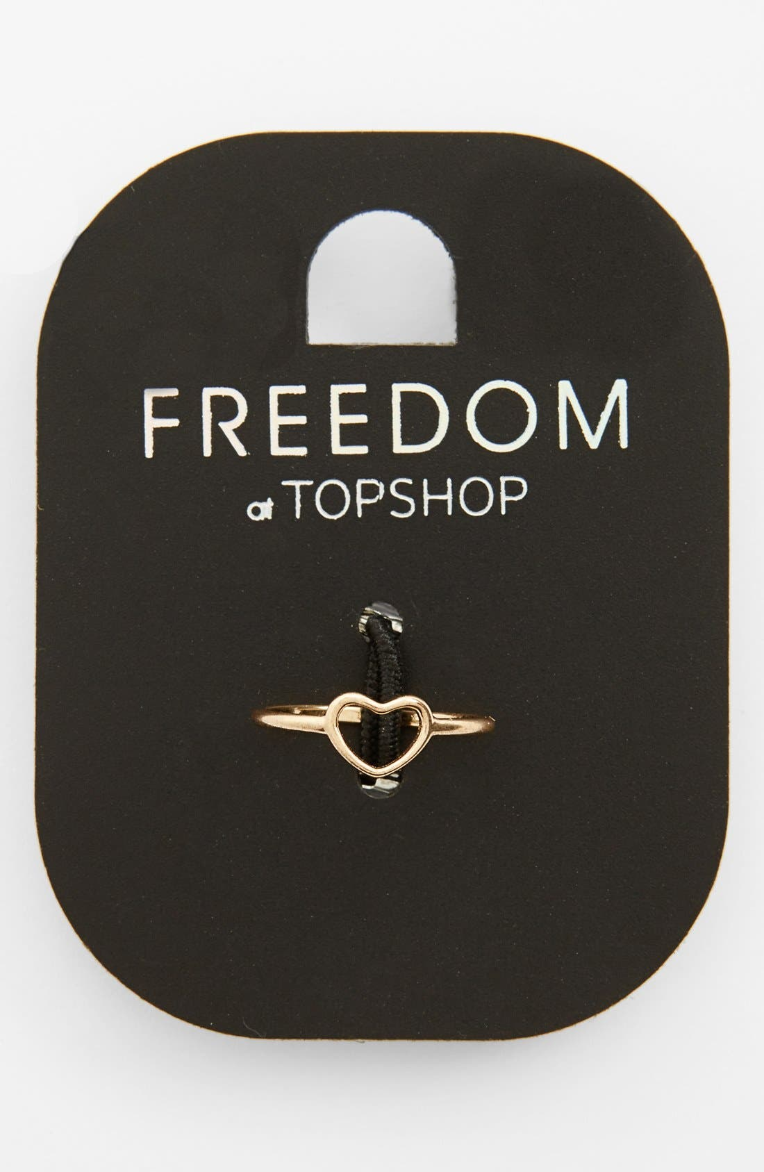 Main Image - Topshop Cutout Heart Midi Ring