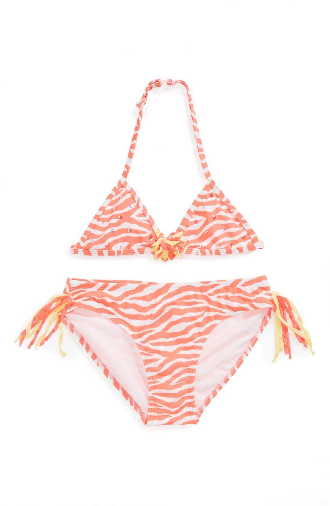 Alternate Image 1 Selected - Kate Mack 'Tahitian Sunset' Two-Piece Swimsuit (Big Girls)