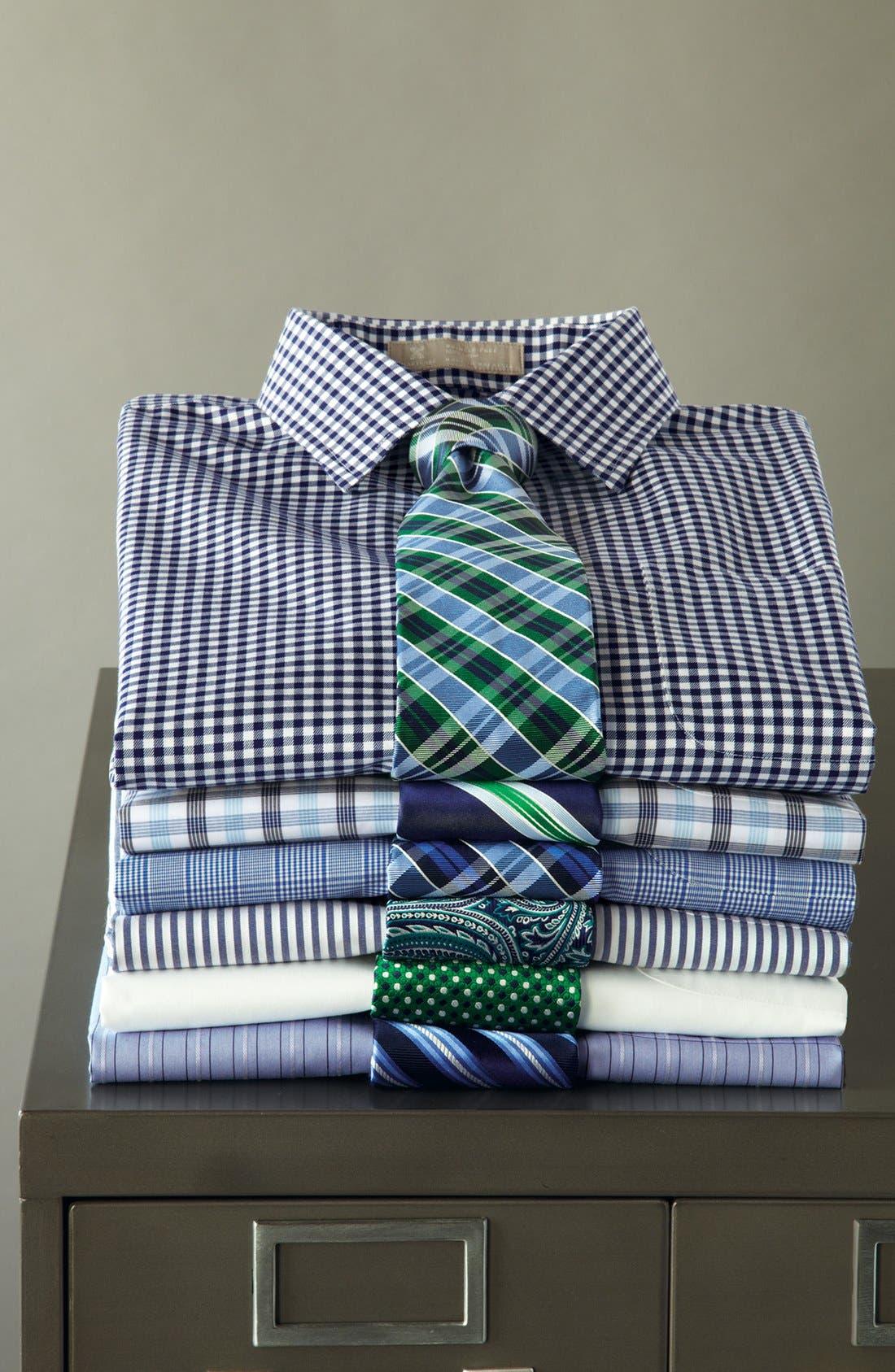 Alternate Image 8  - Nordstrom Men's Shop Smartcare™ Traditional Fit Pinpoint Dress Shirt
