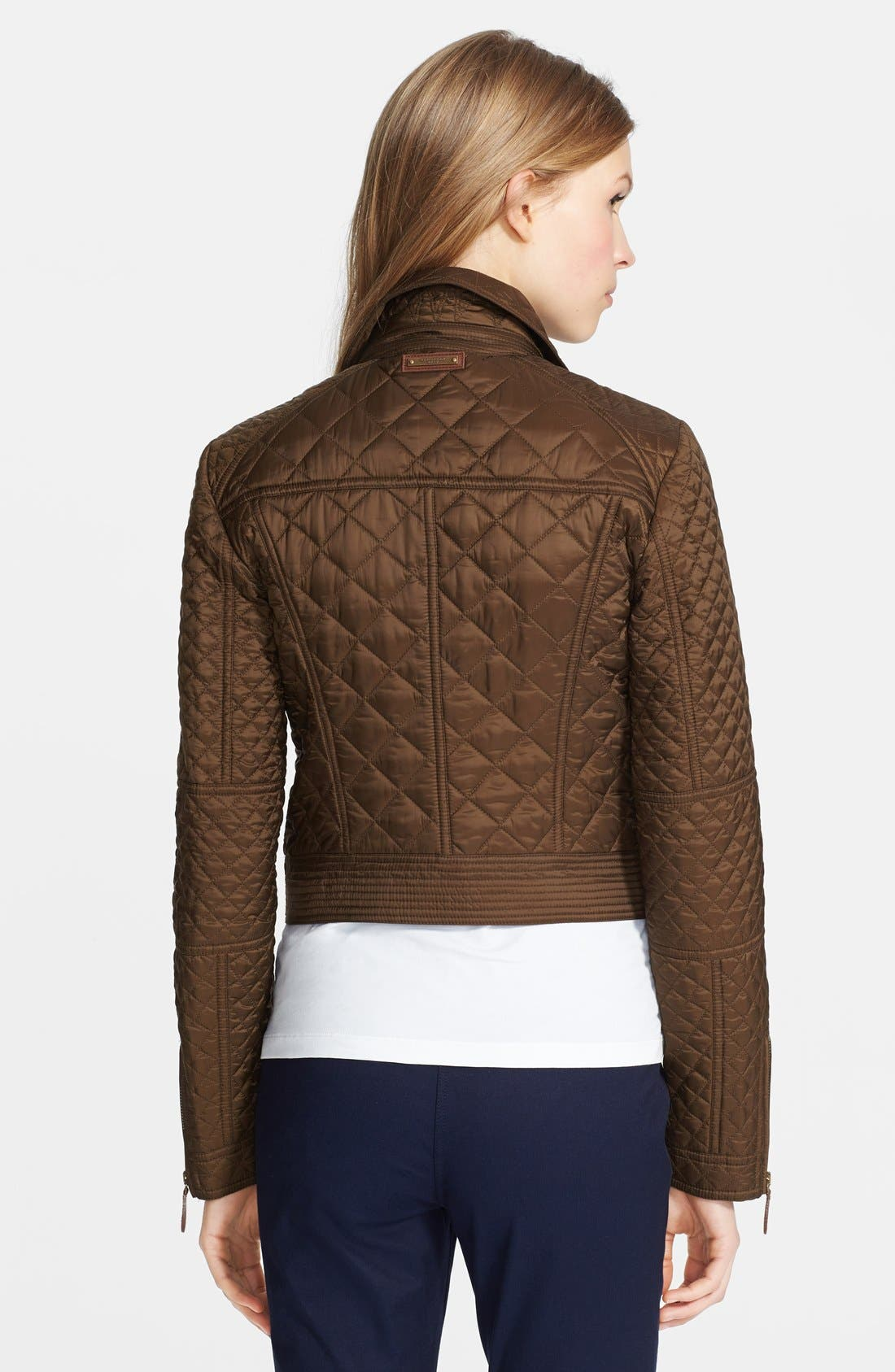 Alternate Image 2  - Burberry Brit 'Oakcliffe' Quilted Moto Jacket
