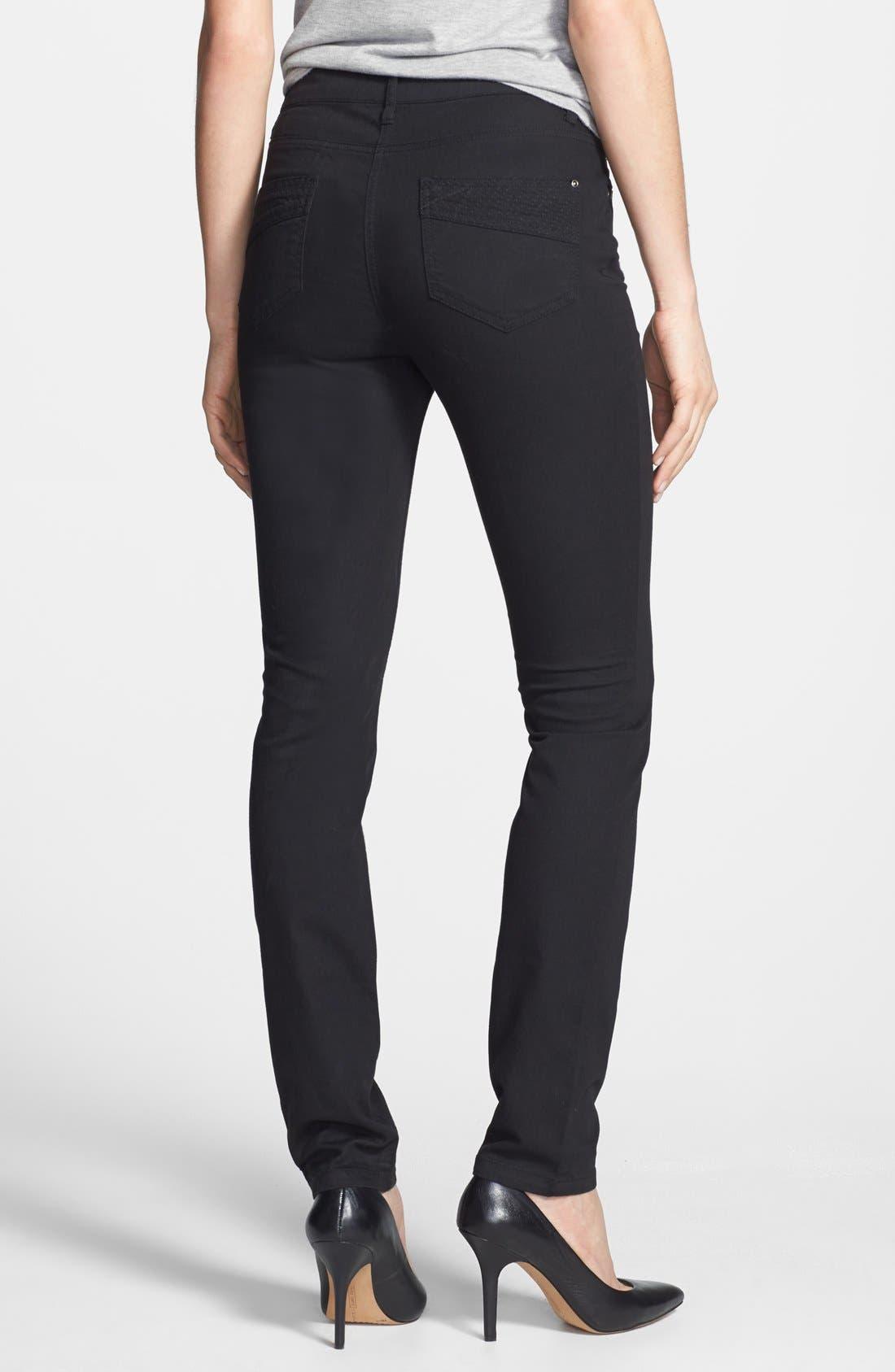 Alternate Image 2  - Wallis Stretch Skinny Jeans (Black)
