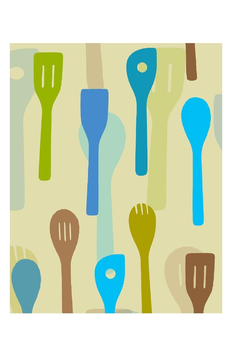 Green Leaf Art \'Colorful Kitchen Utensils II\' Wall Art | Nordstrom