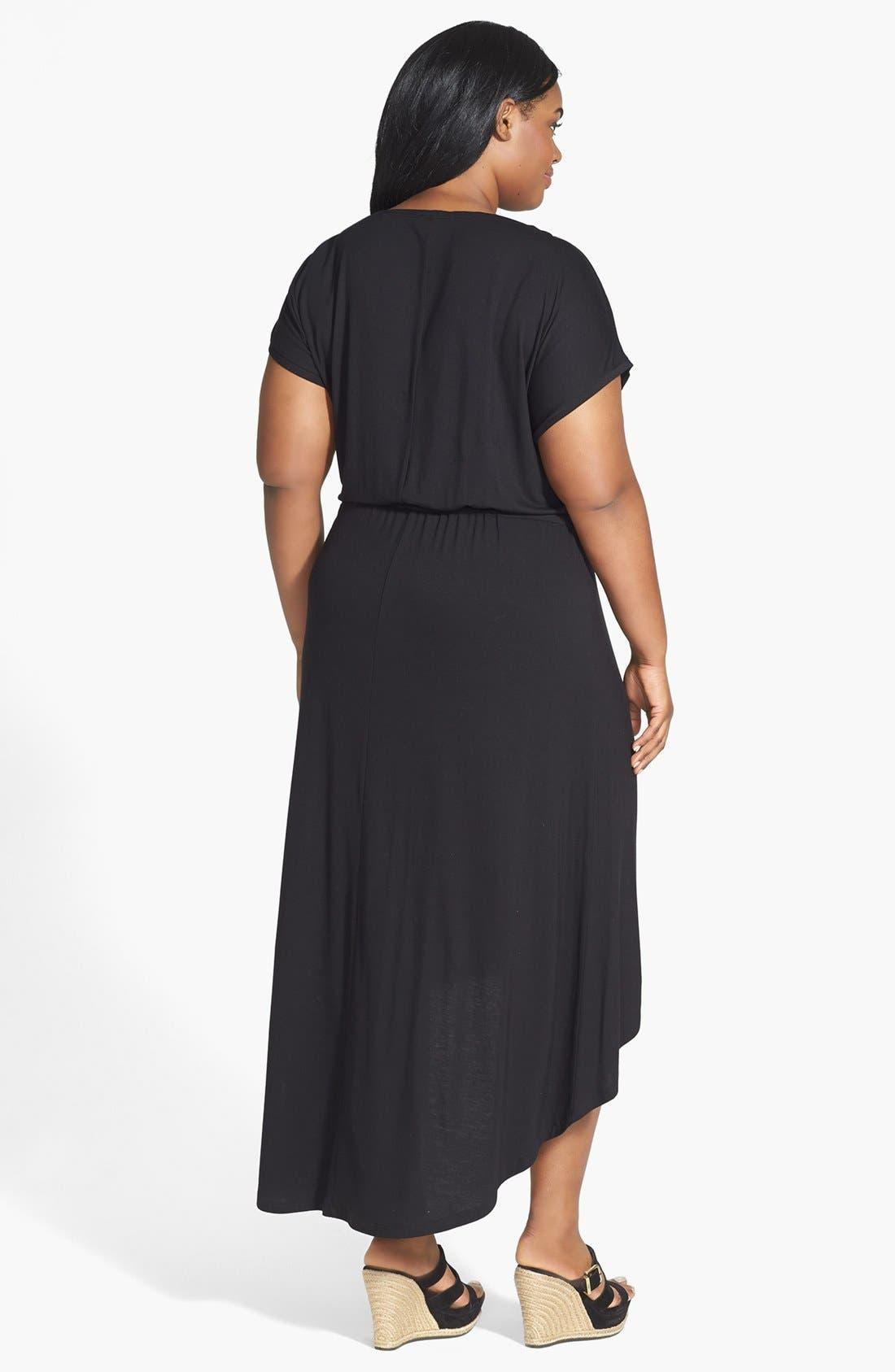 Alternate Image 2  - Caslon® High/Low Maxi Dress (Plus Size)