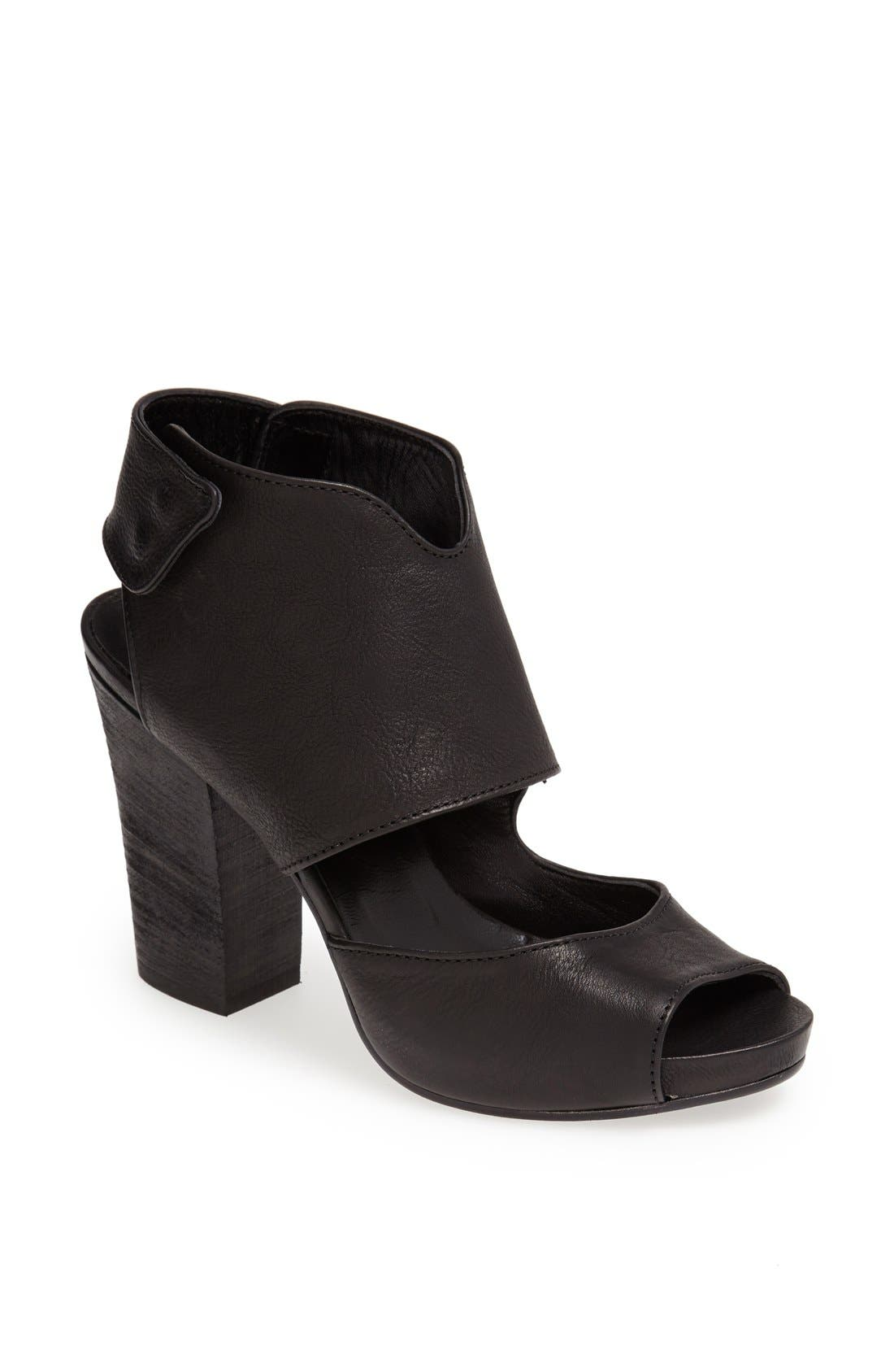 Alternate Image 1 Selected - Latitude Femme Stacked Heel Leather Sandal