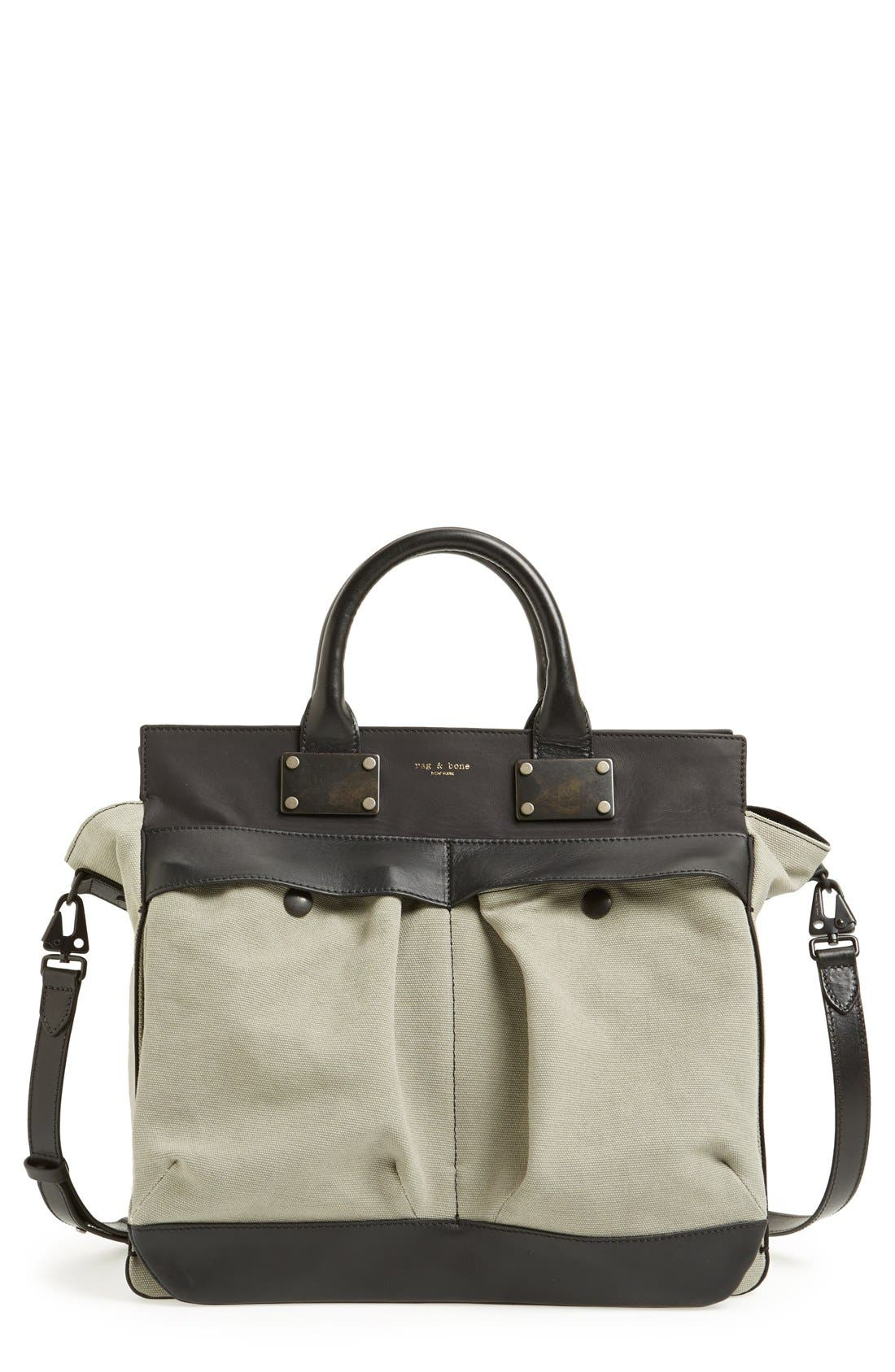 Alternate Image 1 Selected - rag & bone 'Large Pilot' Canvas Satchel
