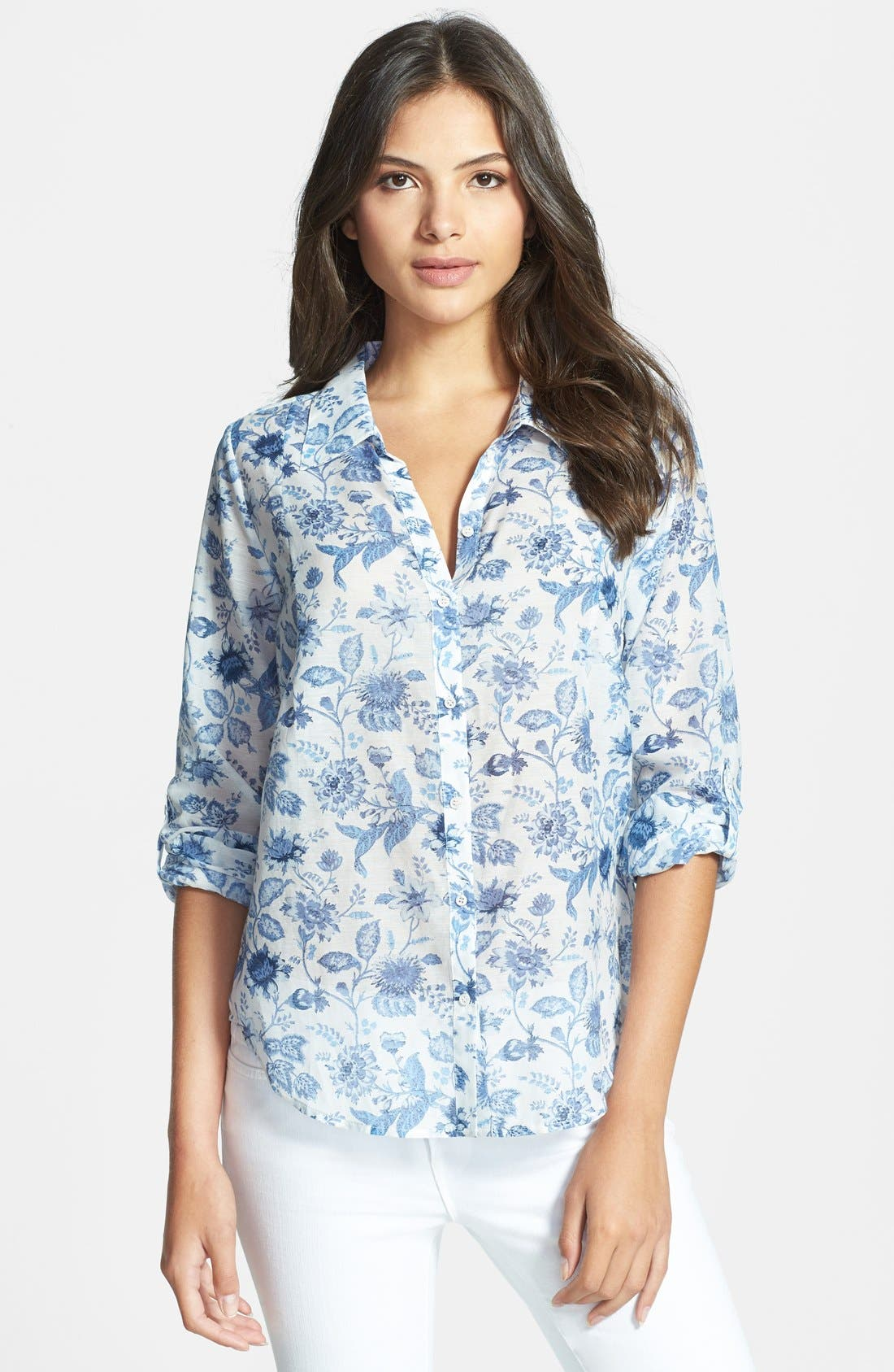 Alternate Image 1 Selected - Joie 'Katrine' Cotton & Silk Blouse