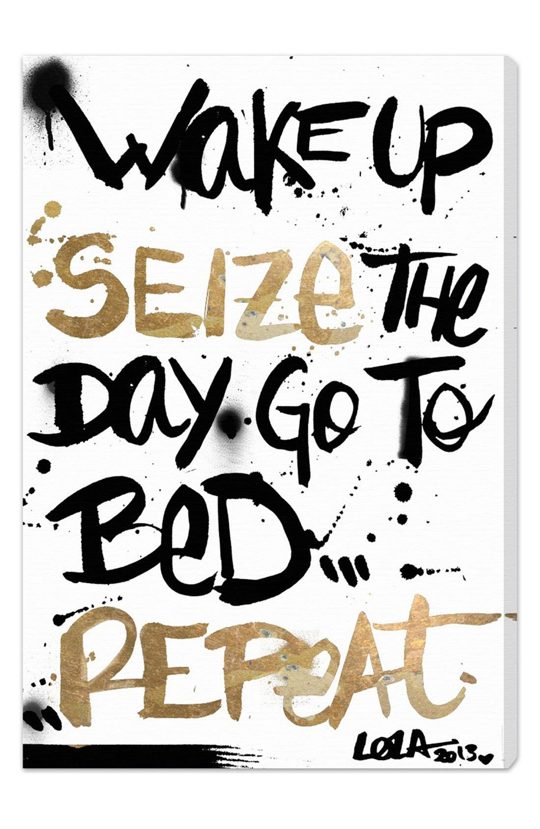 'Seize the Day' Wall Art,                         Main,                         color, White