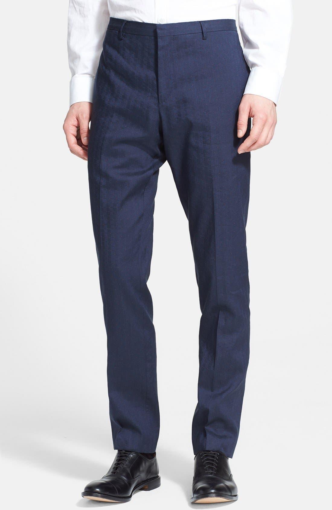 Alternate Image 4  - Paul Smith London 'Kensington' Dot Check Linen Blend Suit