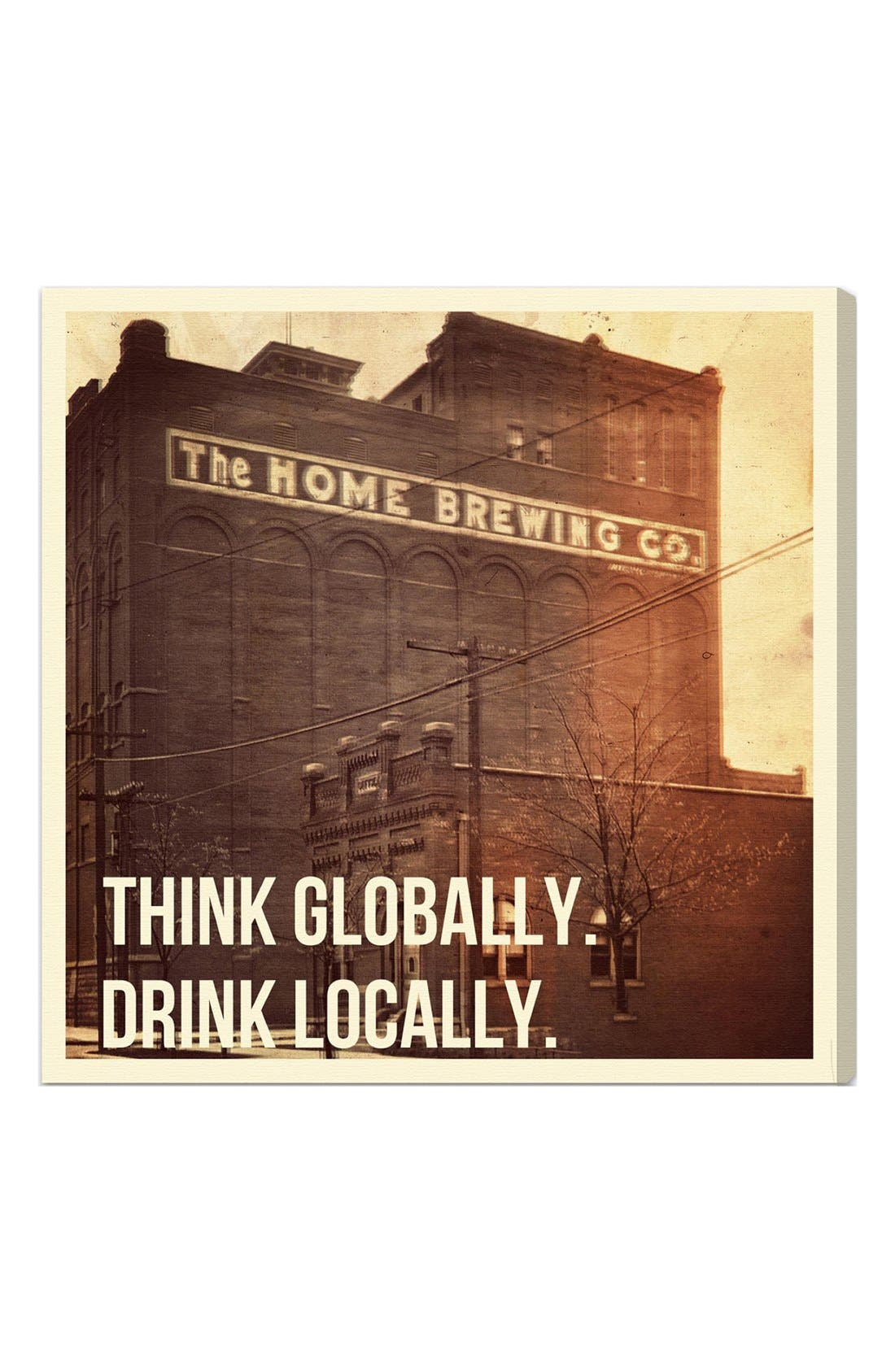 Alternate Image 1 Selected - Oliver Gal 'Think Globally. Drink Locally.' Wall Art