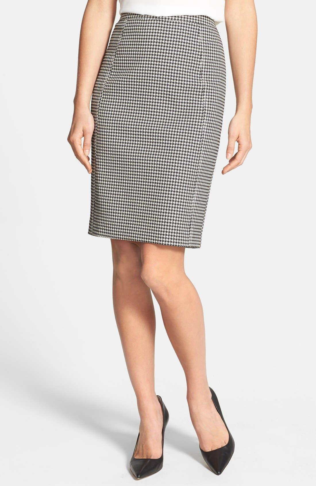Alternate Image 1 Selected - Halogen® Seamed Pencil Skirt (Regular & Petite)