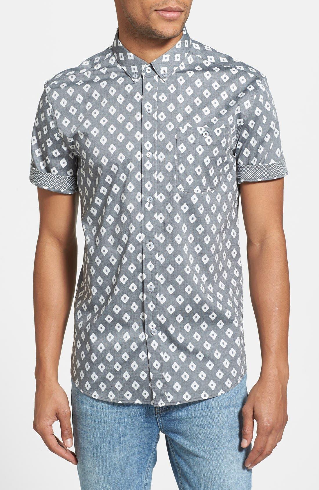 Main Image - 7 Diamonds 'Radio Clash' Short Sleeve Sport Shirt