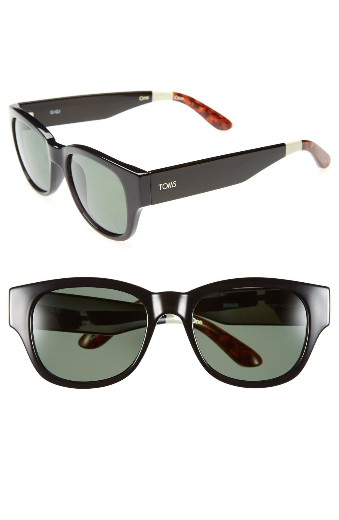 Main Image - TOMS 'Gigi' 52mm Polarized Sunglasses