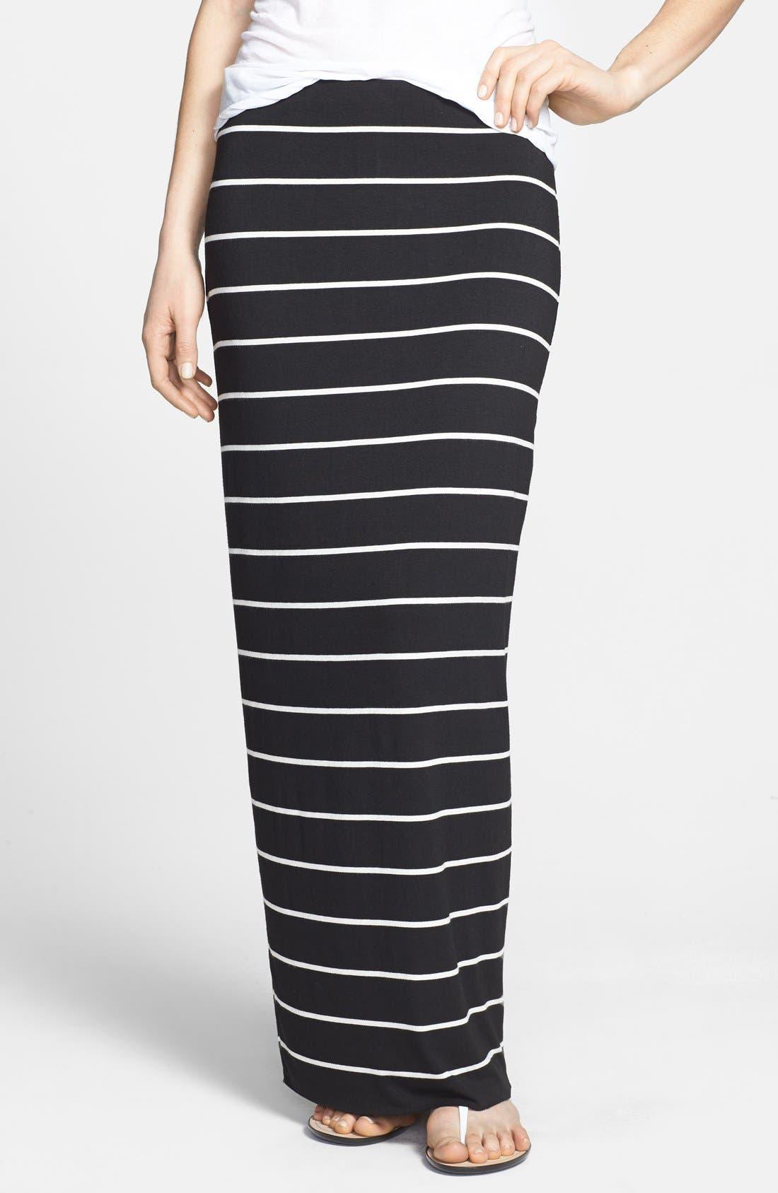 'Masakela' Stripe Maxi Skirt,                         Main,                         color, Stripe Black