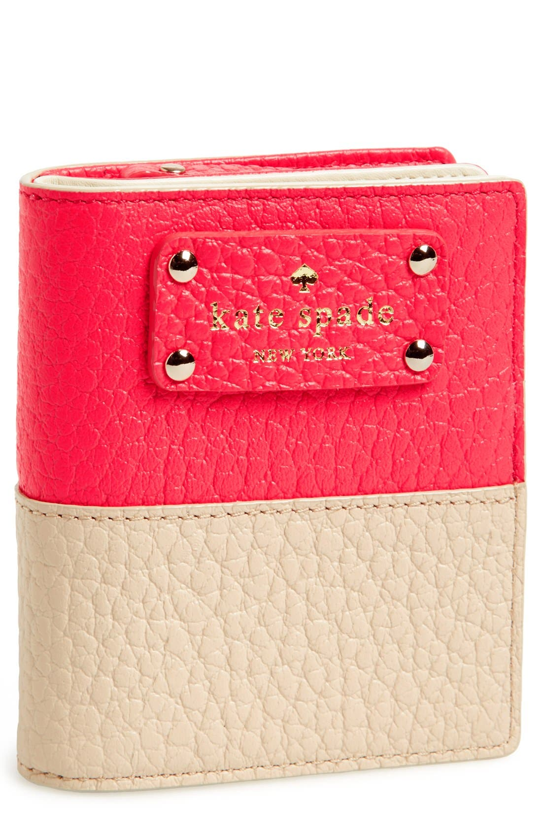 Alternate Image 1 Selected - kate spade new york 'grove court - buttercup' leather wallet