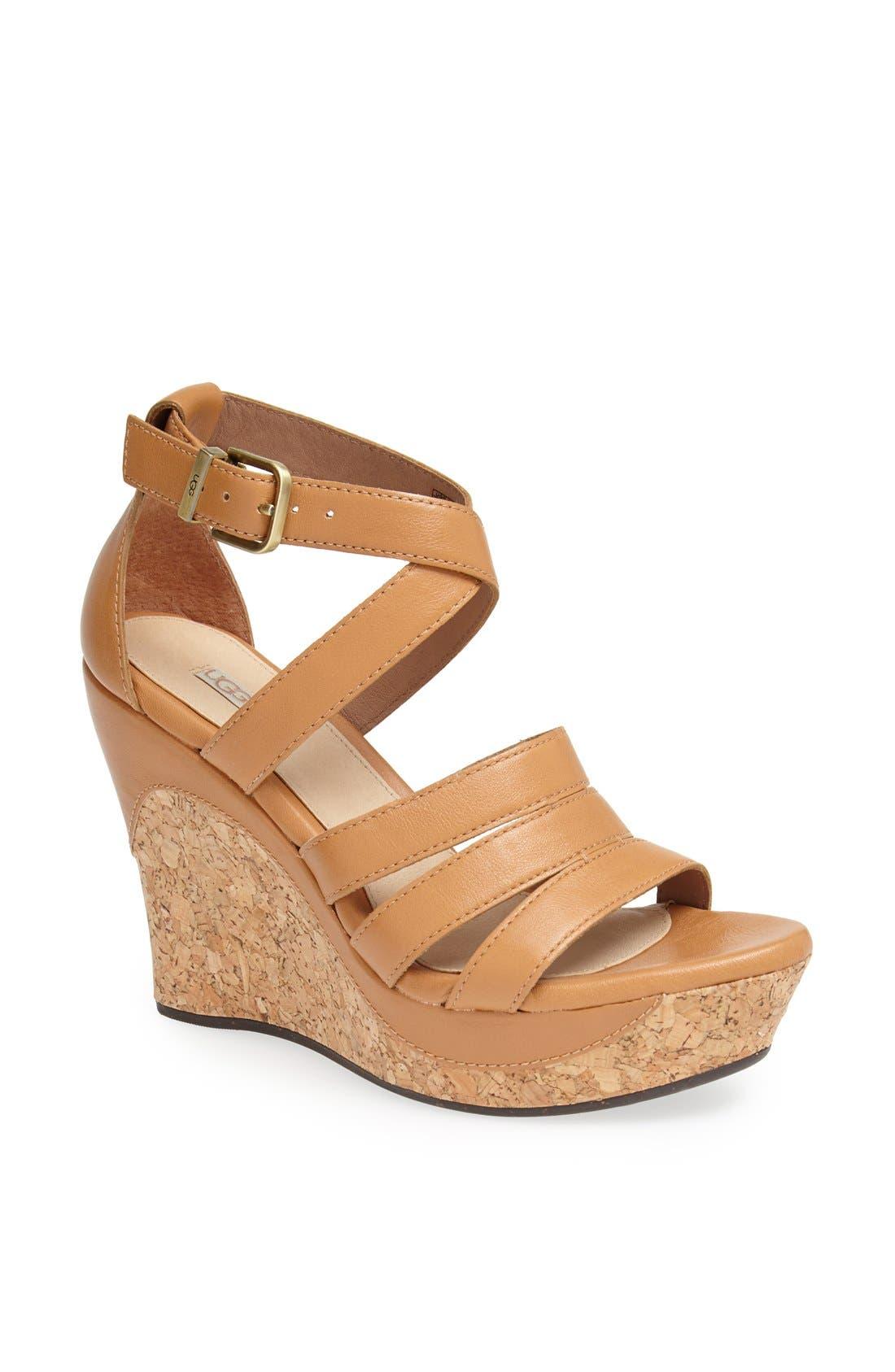 Alternate Image 1 Selected - UGG® Australia 'Dillion' Wedge Sandal
