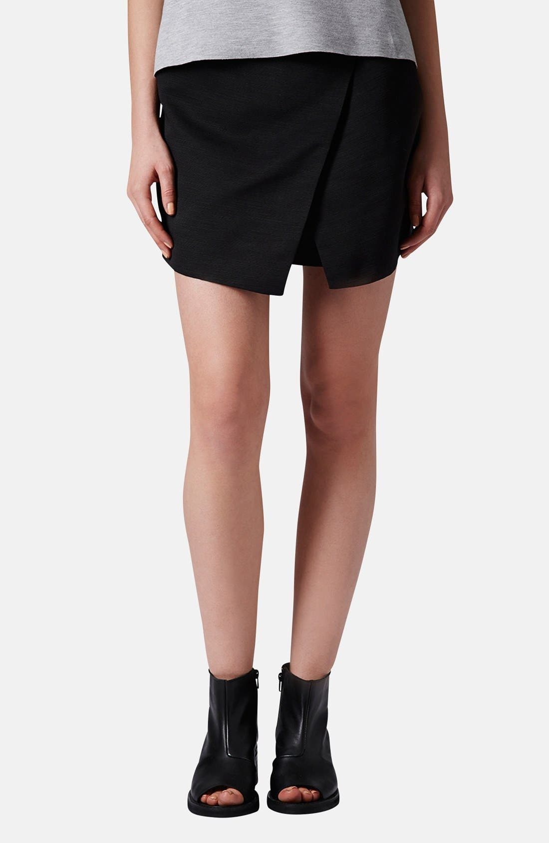Alternate Image 1 Selected - Topshop Woven Wrap Skort