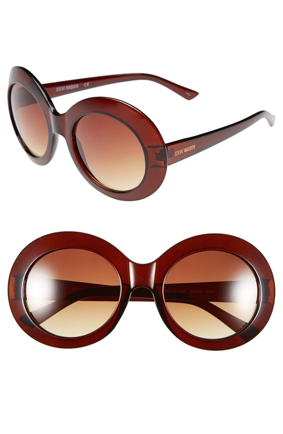 Main Image - Steve Madden 55mm 'Glam' Oversized Oval Sunglasses