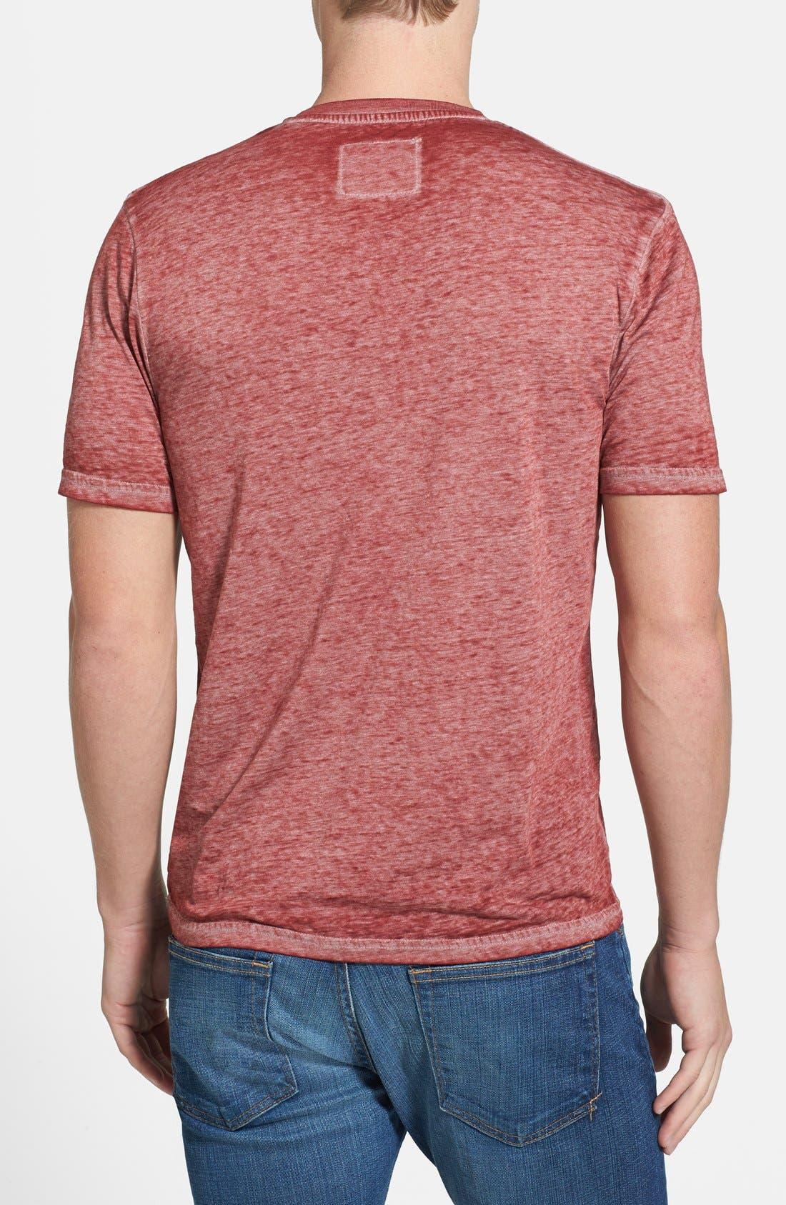 Alternate Image 2  - Red Jacket 'Washington Nationals - Burnout' V-Neck T-Shirt