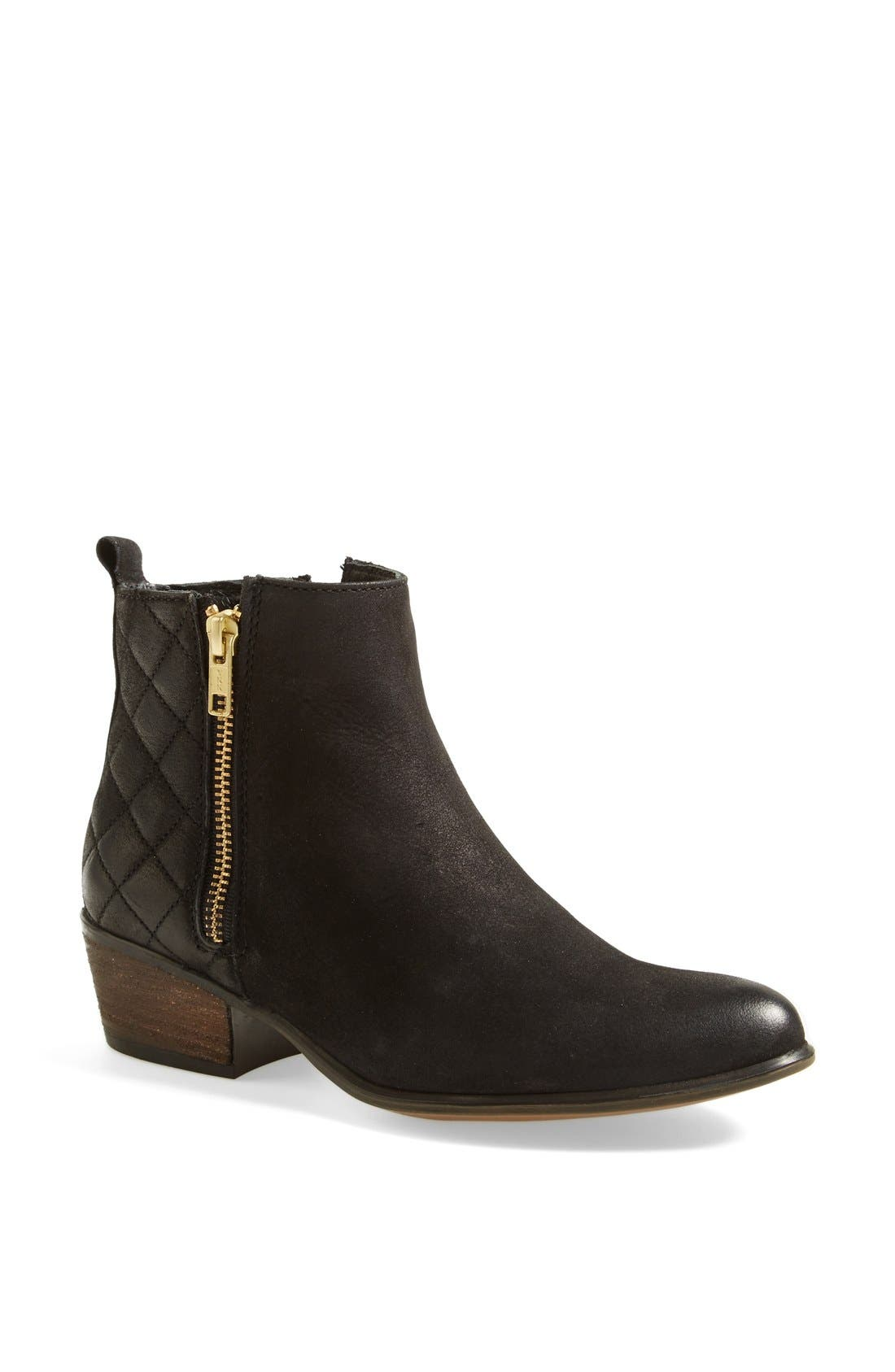 'Nyrvana' Boot,                             Main thumbnail 1, color,                             Black Leather