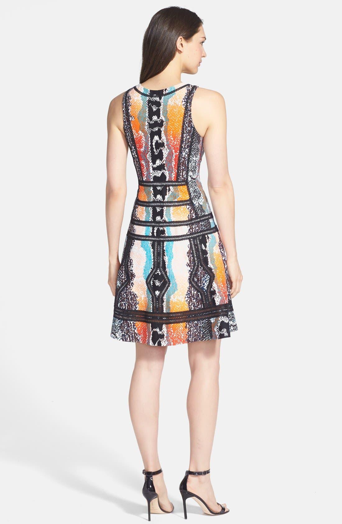 Alternate Image 2  - Diane von Furstenberg 'Margot' Print Woven A-Line Dress