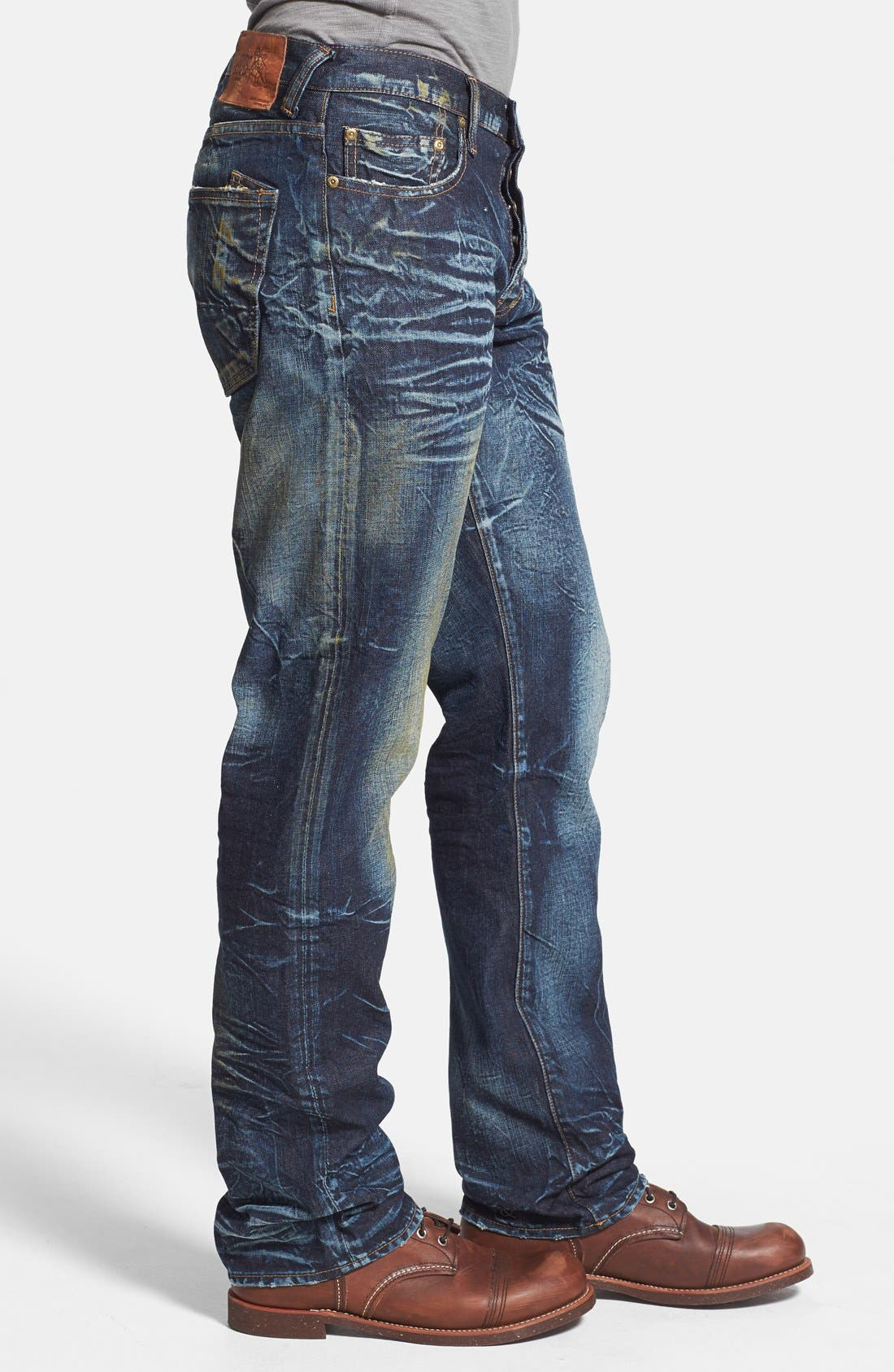 Alternate Image 3  - PRPS 'Barracuda' Distressed Straight Leg Jeans (Winged Bat)
