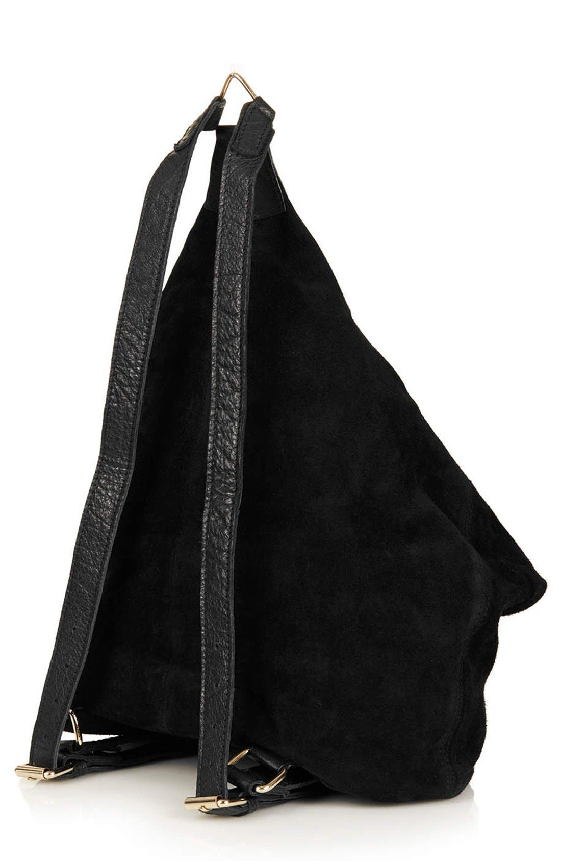 Alternate Image 4  - Topshop Clipped Suede Backpack